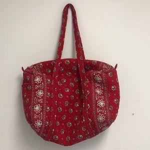 retired vera bradley red bandana duffel bag